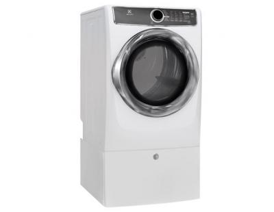 Electrolux Front Load Perfect Steam Electric Dryer with Instant Refresh and 8 cycles - 8.0 Cu. Ft. - EFMC617SIW