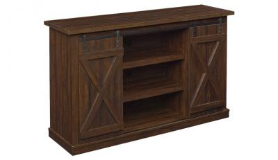 Bell'O Cottonwood TV Stand for TV up to 60 in Sawcut Expresso  HARRIS