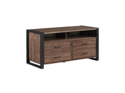 Bell'O TV Stand for TV's up to 70 Inches, Old World Birch TC6350005