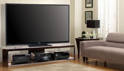 Bell'O Dark Espresso Wood Frame Audio/Video Furniture AVS2176