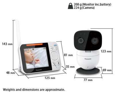 Panasonic Baby monitor with DECT technology - KXHN3051C