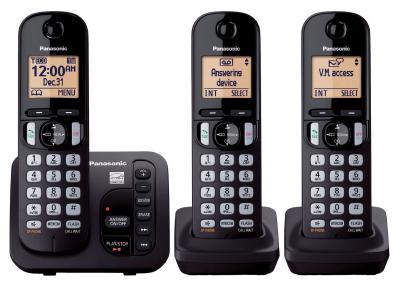Panasonic 3 Handset Landline Phone With Answering Machine - KXTGC253B