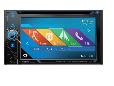 Clarion 2-DIN DVD MULTIMEDIA STATION WITH BUILT-IN NAVIGATION NX405