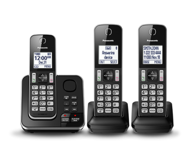 Panasonic Digital Cordless Answering System - KXTGD393B