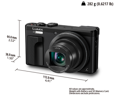 Panasonic 30x Zoom Travel Camera with 4K - DMCZS60K