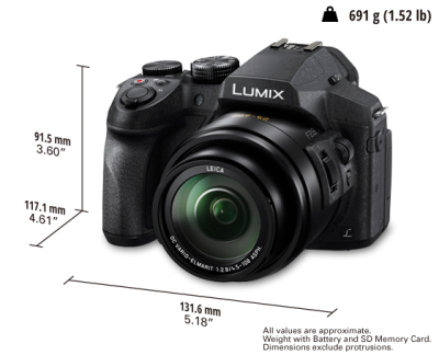 Panasonic All Round Bridge Camera - DMCFZ300K